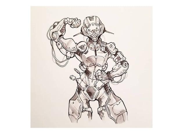 robots drawing challenge