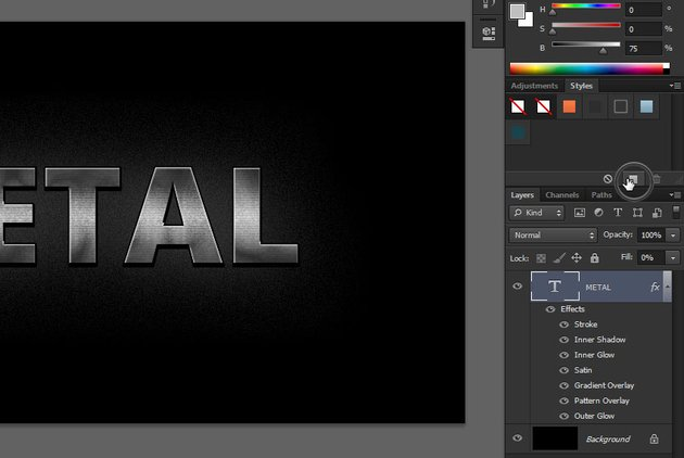 how to create new layer style