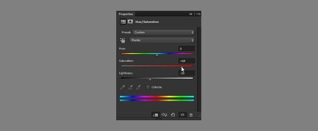 adjust saturation with hue saturation