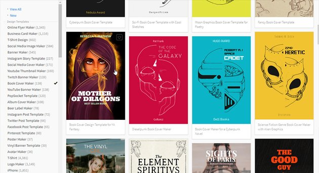 book cover templates