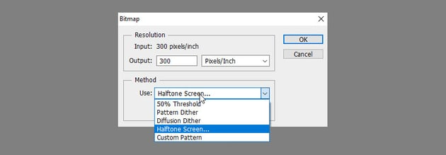 bitmap halftone screen