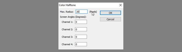 color halftone filter