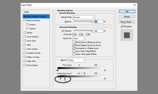 blend if setting