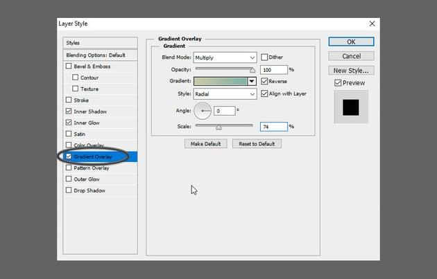 Glass Text PSD Tutorial add gradient overlay