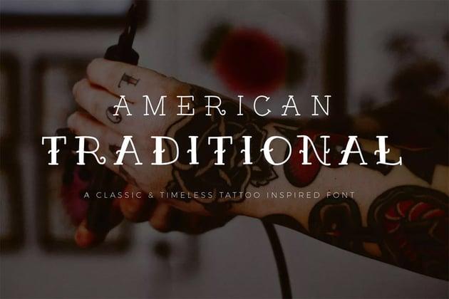 American Traditional Tattoo Font
