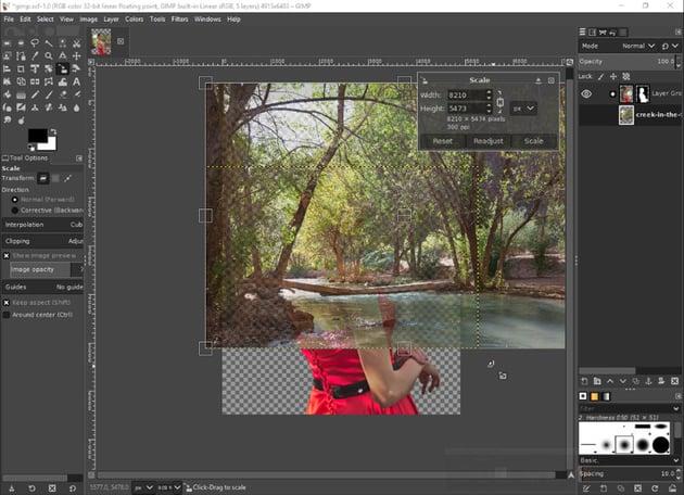 gimp resize image