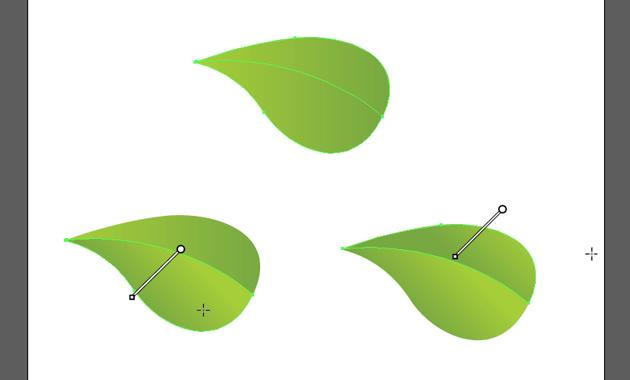 add gradient to leaf