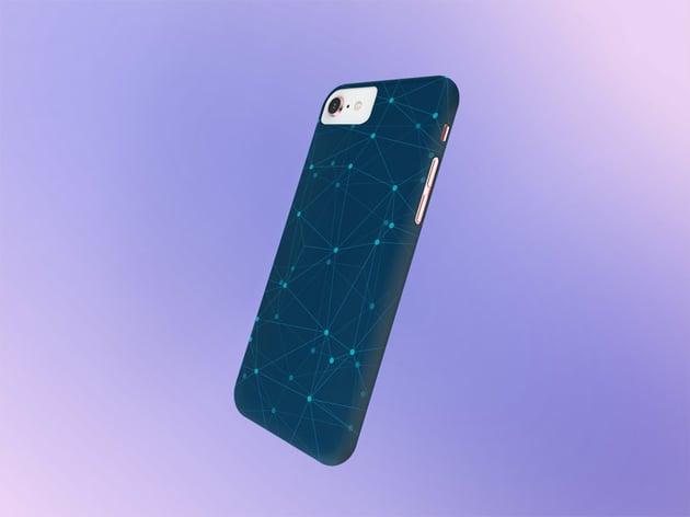 Gradient Background Phone Case Mockup