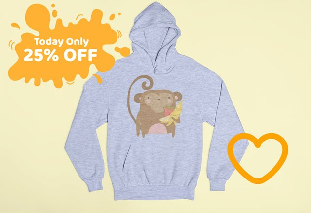 Flat Lay Pullover Hoodie Template