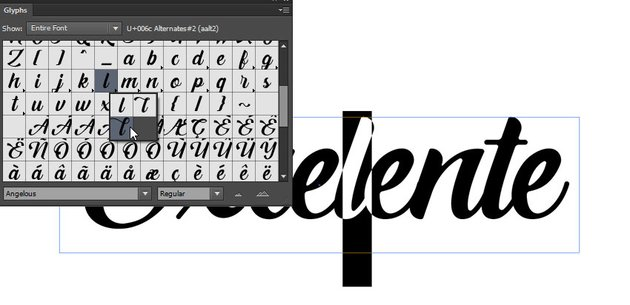 select glyphs
