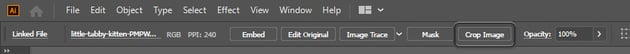 where to find crop tool illustrator