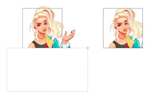crop part of image illustrator