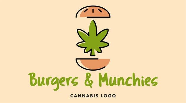 Funny Marijuana Logo