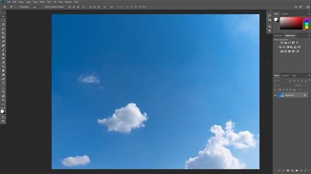 single cloud photo