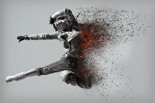 dispersion effect photoshop action