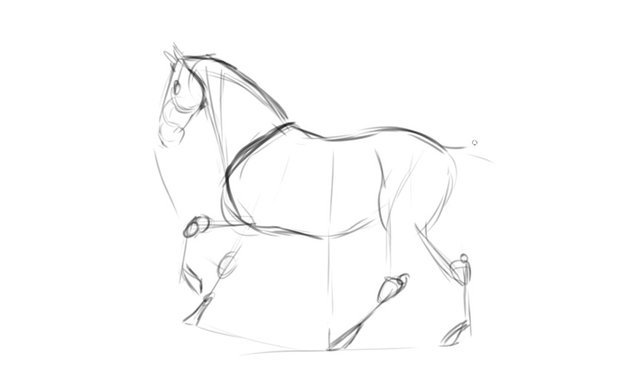 light sketching example