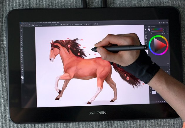 how to finish a drawing on a tablet