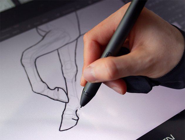 parallax in a graphics tablet