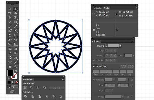 eid greeting card expand strokes object fill pathfinder panel pathfinder select unite shape mode illustrator cc miss chatz