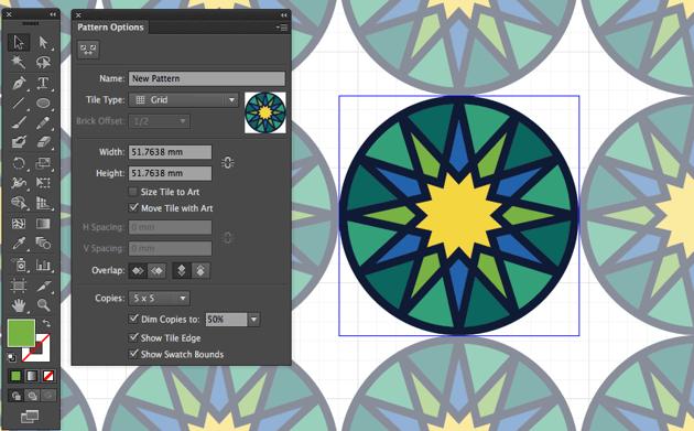 adobe illustrator object pattern make tile pattern eid fitr greeting card design miss chatz