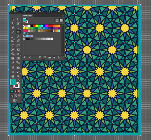 adobe illustrator edit fitr pattern create rectangle tool background send to back