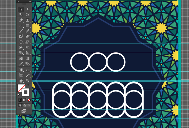 eid text alignment guides delete onjects shape eid greeting card fitr illustration illustrator adobe