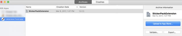 xcode archives sticker pack