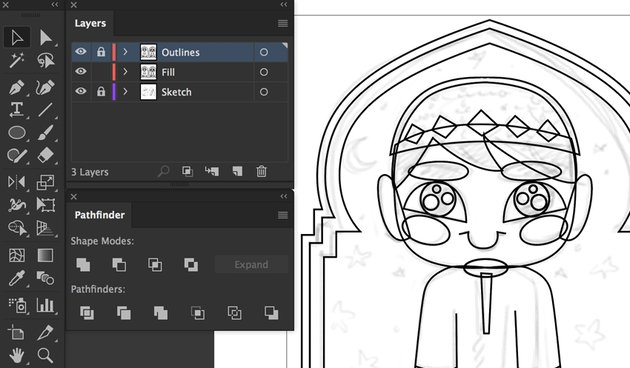 vector tutorial duplicate layers file color