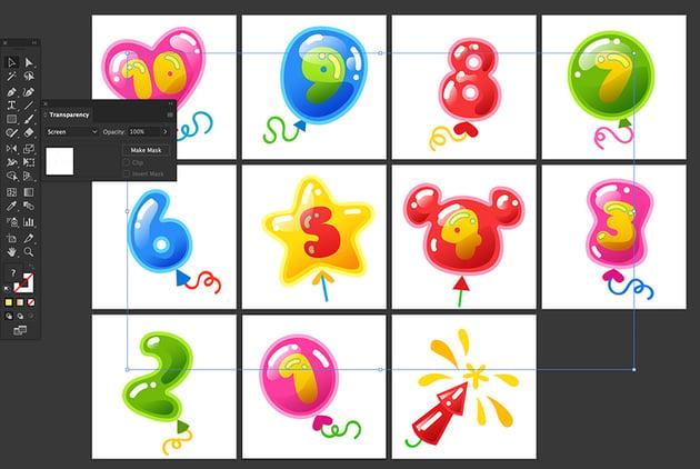 Blob Brush tool Transparency Screen Blending Mode Highlights