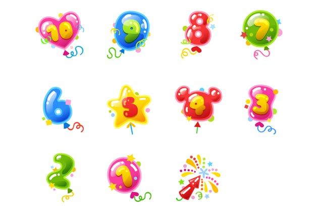 Final Balloon Countdown Sticker Set Stickermarket