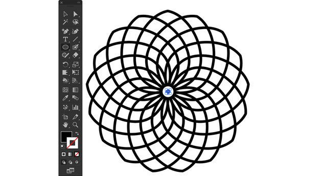 Ellipse Tool Fill Stroke Color center artboard