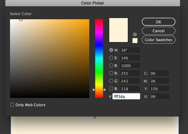 Create Rectangle with Hex color and Align with Smart guides