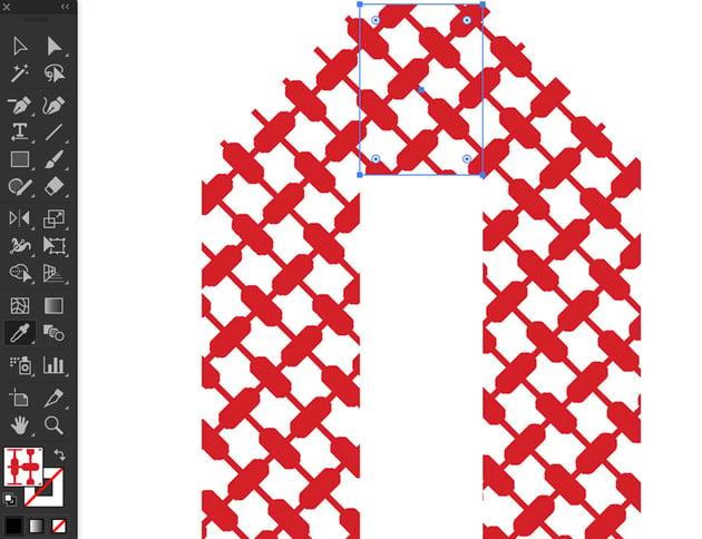 Grave accent transform pattern use eyedroper rectangle set pattern