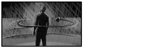 Orbit storyboard shot around subject
