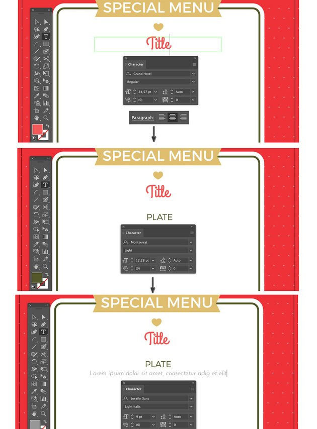 special menu set layout of text title plate and description lyer templates flyer design how to make a flyer event flyer menu template
