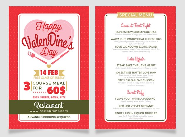 final design valentines dinner menu flyer adobe illustrator misschatz lyer templates flyer design how to make a flyer event flyer menu template