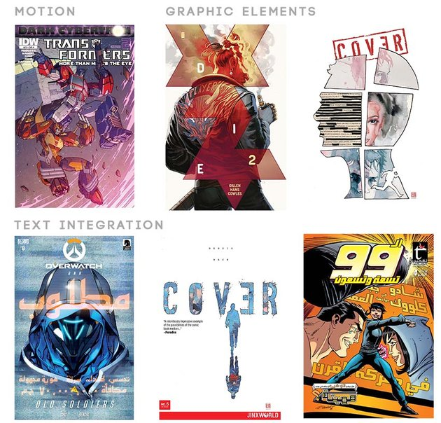 How to apply action graphic elements and text integration to comics