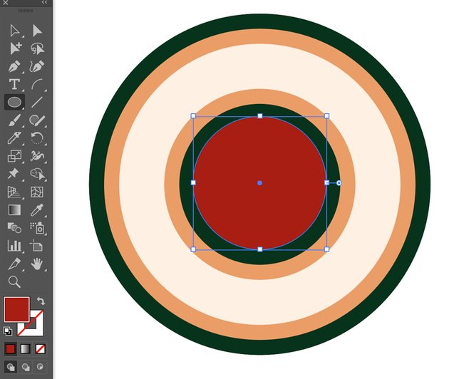 Ellipse tool create circle fill object expand all circles for compound shapes