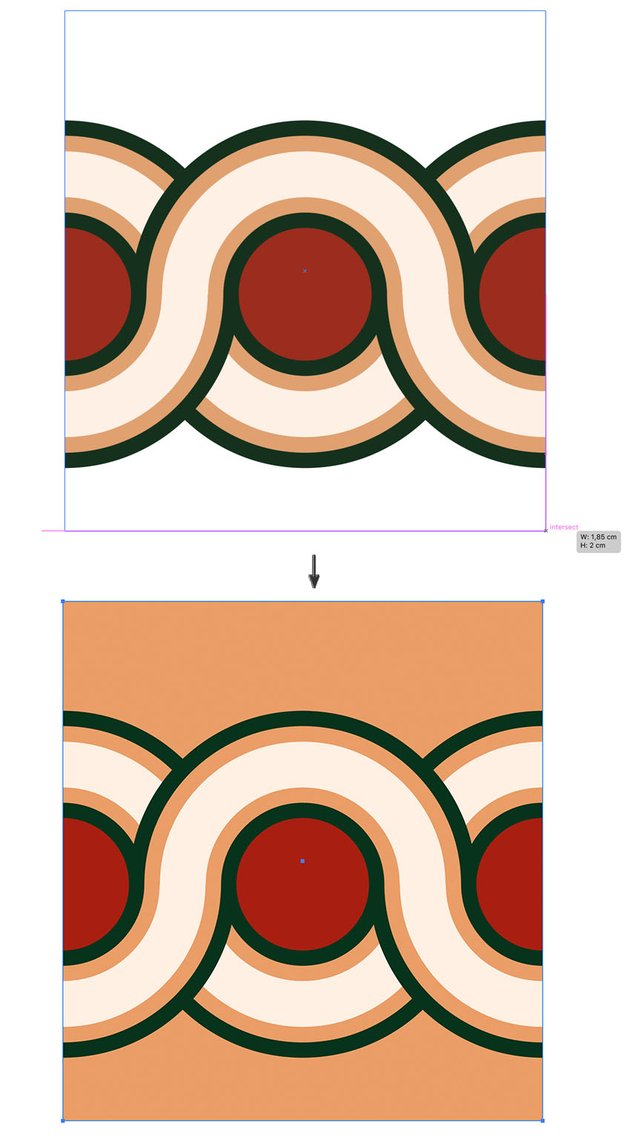 rectangle tool create backdrop and arrange send to back