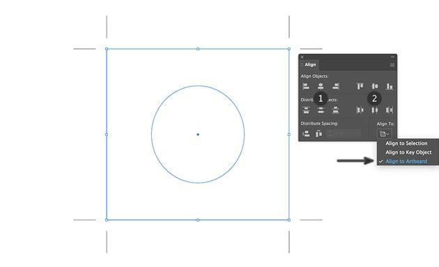 align center horizontal vertical beer label design set onto artboard illustrator