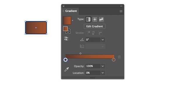 rectangle tool apply stroke and gradient linear gradient to banner tail