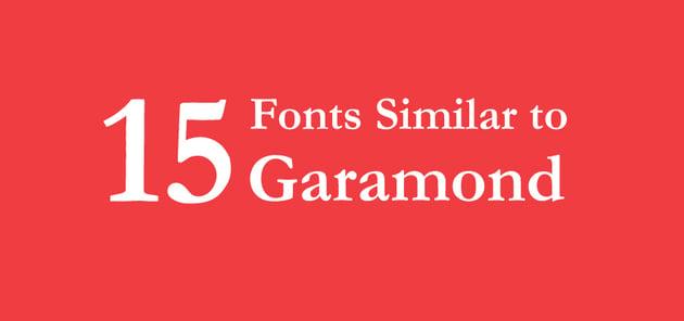 15 fifteen fonts similar to Garamond on Envato elements