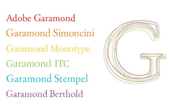 garamond font variations adobe simoncini monotype berthold ITC Stemple typeface
