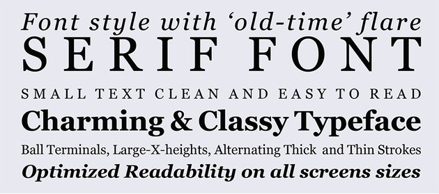 Georgia Font typeface specimen font style weights