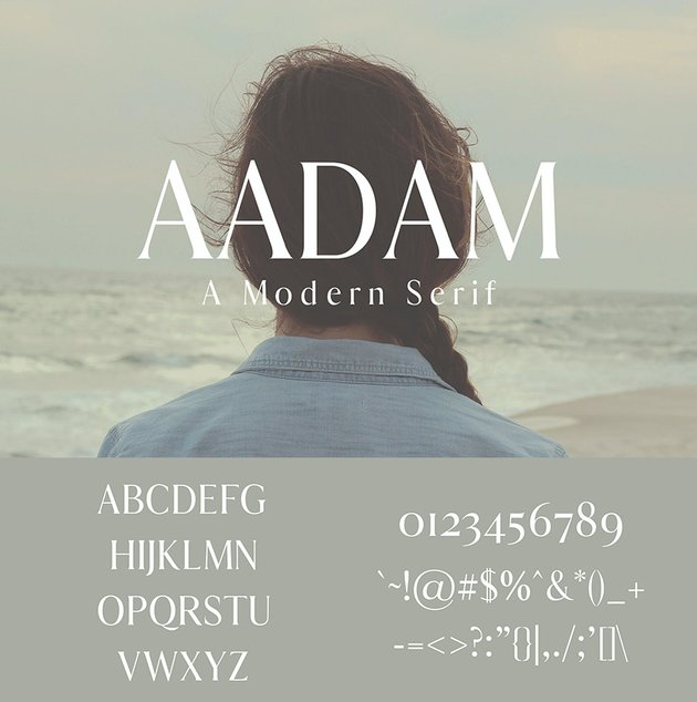modern serif font aadam alternative to Georgia
