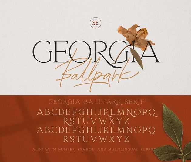 gerogia ballpark font duo font substitute for Copperplate