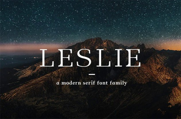 leslie font from graphic river copperplate alternative
