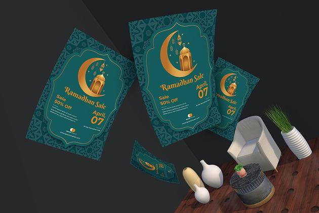 Promote your business sale with Ramadan Sale Flyer and Poster Templateramadan sale flyer template envato elements