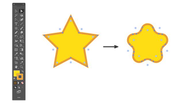how to round corners in illustrator using Live corner widgets circular handles