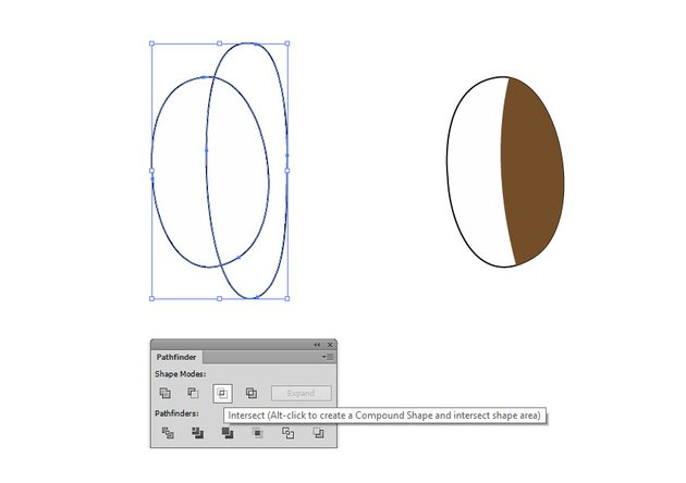 Create the iris using the Intersect Command of the Pathfinder panel to create